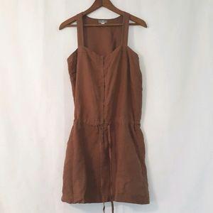 Nafnaf earthy linen dress